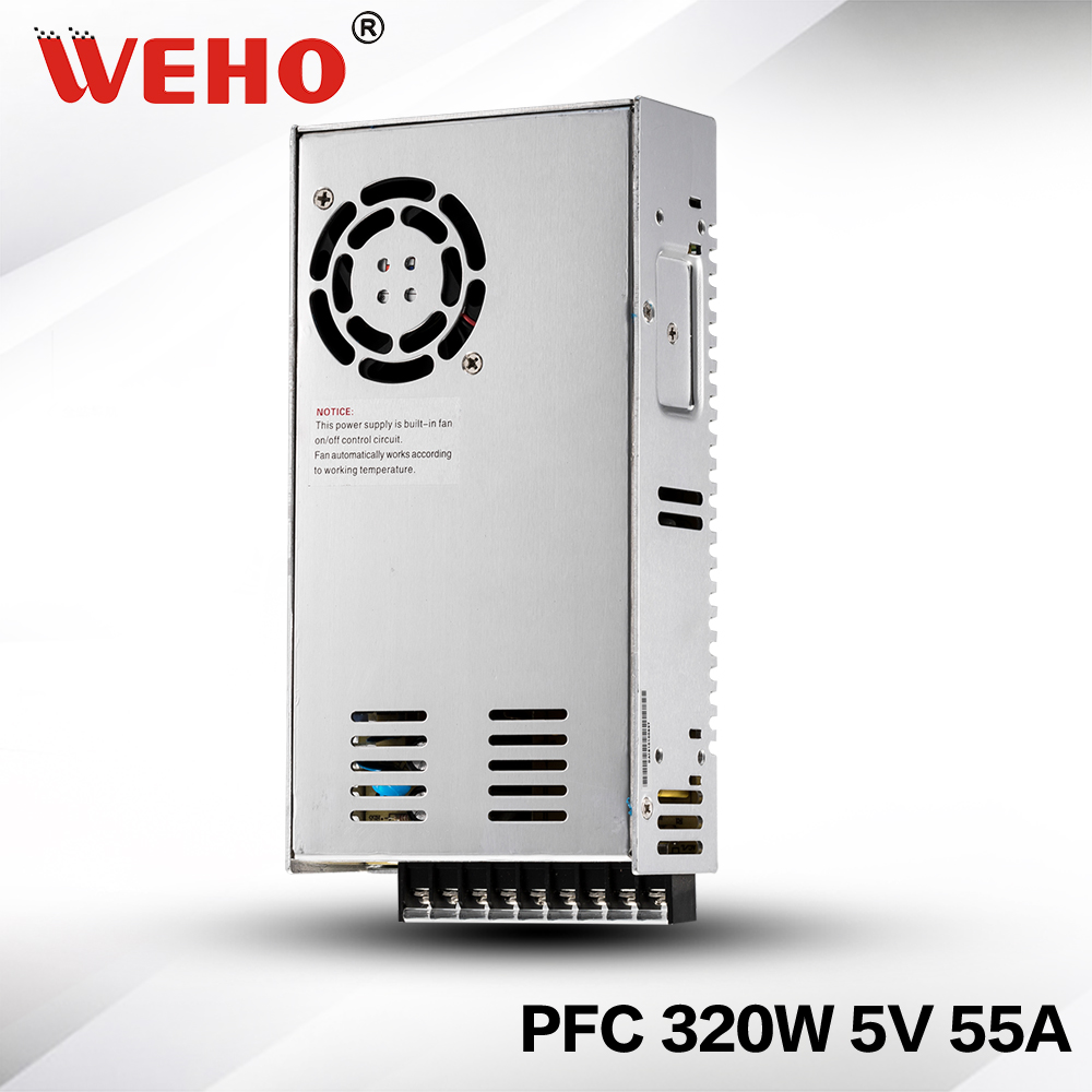 (SP-320-5)Stable DC voltage source PFC 320W 5V DC led power supply 320w 5v<br>