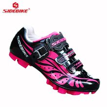 sidebike mtb cycling shoes women racing competition bicycle lock shoes pedals trek exercise mountain bike sneakers breathable