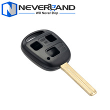 Remote 3 Buttons 42mm Replacement Key Case Shell Fob for Lexus ES330 RX330 GX470 LX47 No Chip Free Shipping D20(China)