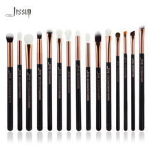 Jessup Brand Rose Gold/Black Professional Makeup Brushes Set Make up Brush Tools kit Eye Liner Shader natural-synthetic hair(China)