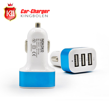 Free Shipping Universal Vehicle 12V-24V 3 Ports USB(1A,1A,2.1A) DC Car Charger USB Power Adapter For Cellphone tablet PC