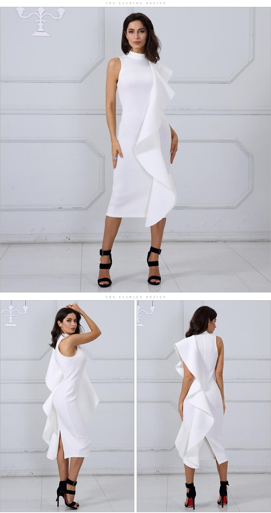 Adyce 2017 New Style Summer Dress Women Sexy White Sleeveless Patchwork Ruffles Mini Bodycon Vestidos Party Dresses Clubwear 18