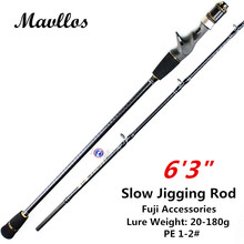 Mavllos CW 20-180g 1.95m Ultra Light Saltwater Boat Fishing Slow Jigging Rod Fuji Carbon Surf Bait Casting Rod Fishing 2 Section