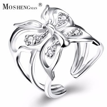 2017 Real Anillos For Ring Women, Cubic Zirconia Adjustable Ring, Style Jewelry Is Love Commitment And Boy Girl's Gift(China)