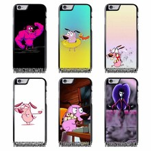 Courage The Cowardly Dog Cover Case for Samsung A3 A5 A7 2015 2016 2017 Sony Z1 Z2 Z3 Z5 Compact X XA XZ Performance(China)