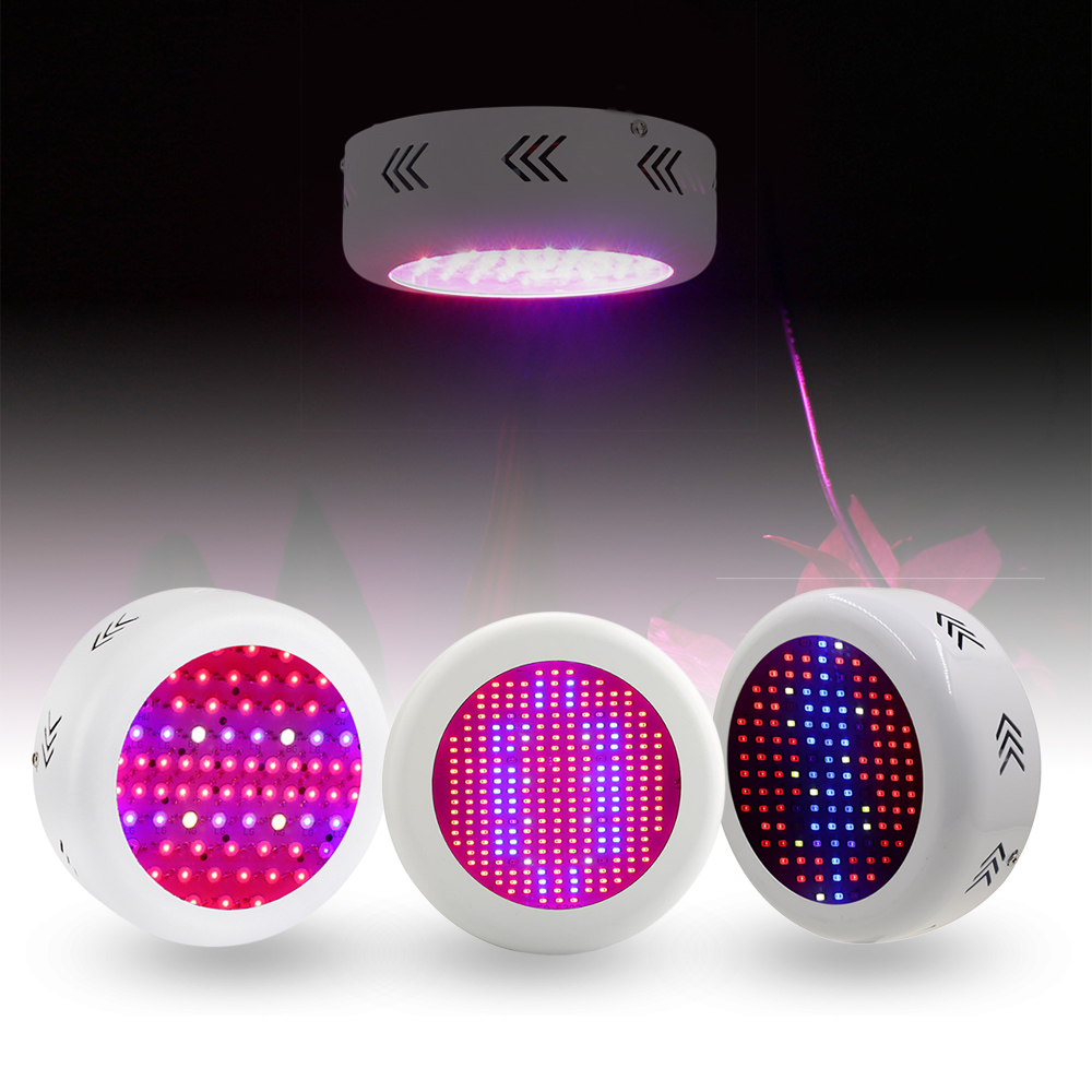 130W/72*3W/ 300W UFO Full Spectrum Led Grow Light  AC85~265V LED Grow Lamp For Indoor Plant Growing and Flowering<br>
