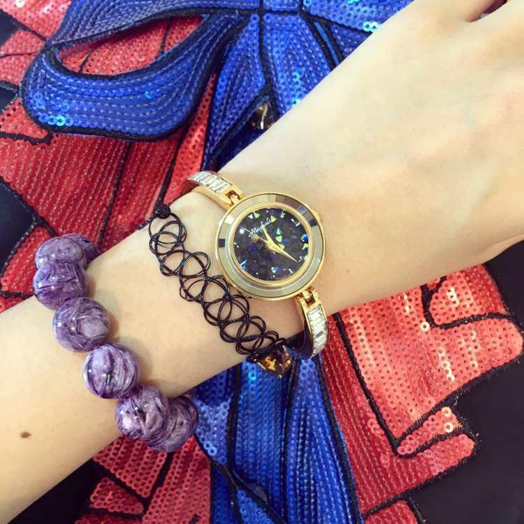 Female Watch Quartz-Watch High-Grade Ladies Watch Bracelet Strap Gold case Full Diamond Watches Women<br><br>Aliexpress