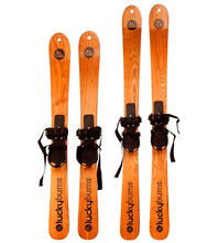 Christmas Gift wood material suitable for adults and children 130cm max loading 80kgs Snow Racer/ sled/skis(China)