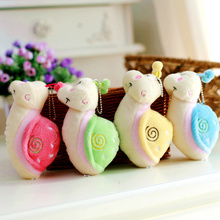 4pcs 14cm colorful snail plush toy, snail stuffed animal doll, creative wedding gift(China)