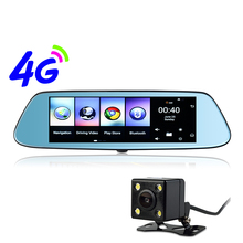 Udricare 8 inch Android 4G GPS Navigation WiFi Bluetooth DVR Android 5.1 GPS 1GB RAM Rear View Dual Camera Mirror Internet DVR(China)