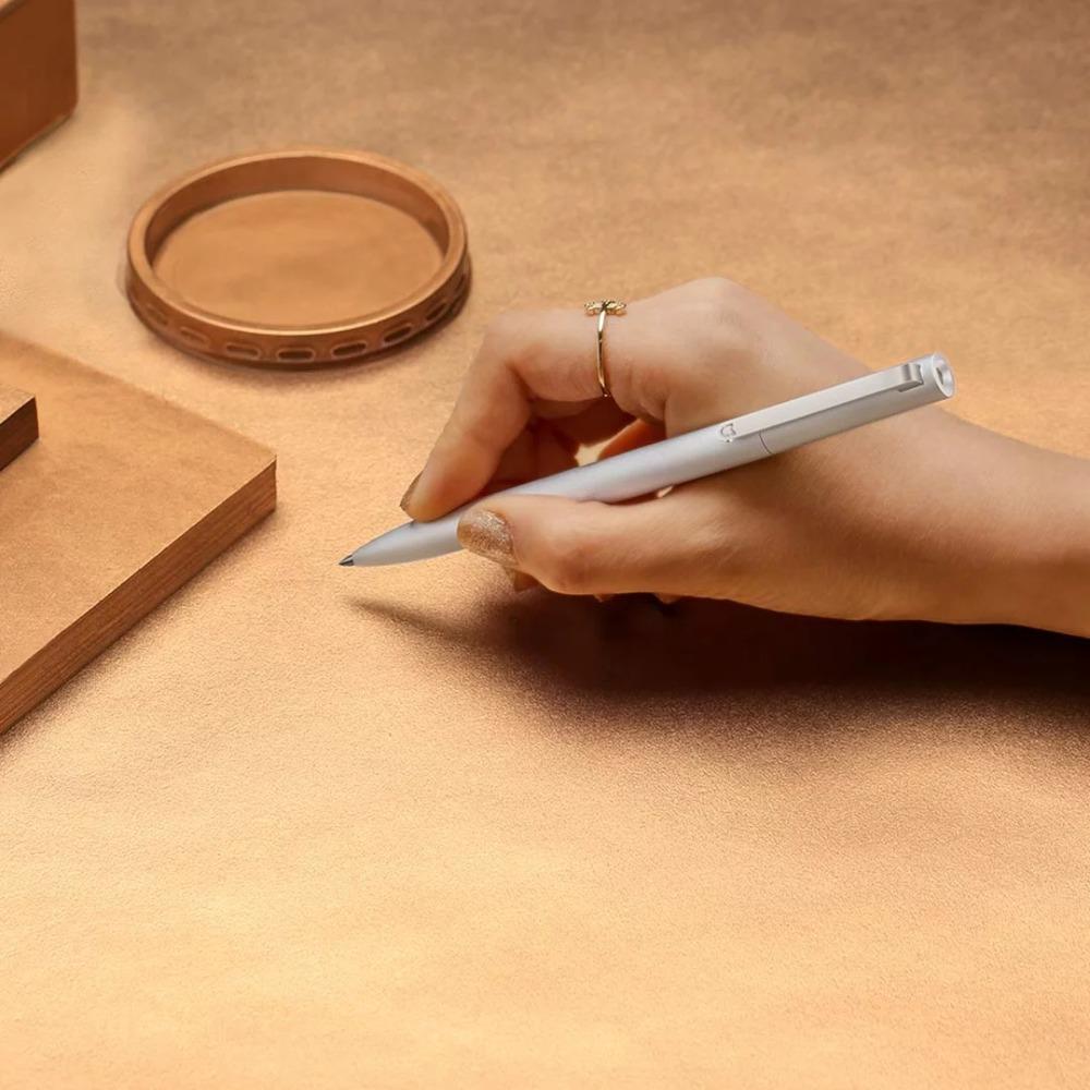 New-Original-Xiaomi-Mijia-Metal-Sign-Pen-9-5mm-Signing-Pen-PREMEC-4 Smooth-Switzerland-Black-Refill