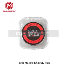 Authentic Coil Master SS316L Wire 22ga 24ga 26ga 28ga 30ga 36ga For Rebuildable RDTA RDA RTA Tank Atomizer Vaporizer Vape Kit(China)