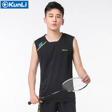 New Original Kunli mens badminton shirt sports clothing running T-shirt tennis tabe tennis shirt kids boys shirt Soccer Jerseys