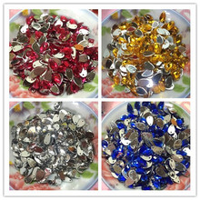 50pcs 6*10mm Water Droplet Shape Sew-on Rhinestone Acrylic High Quality DIY Wedding Dress Prom Dress Decoration Drop Rhinestone