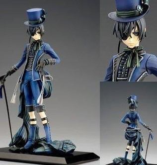 Classic Anime Black Butler Kuroshitsuji Ciel Phantomhive PVC Action Figure Collection Model Kids Christmas Gifts Free Shipping<br><br>Aliexpress