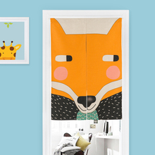 Nordic Cartoon Animal Simple modern Pattern 55 Home Decor Door Curtain Thick Linen Tapestry Kitchen Bedroom Curtain customizable