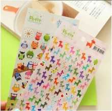 1 Sheet DIY Kawaii Owl Giraffe Print Toy Sticker Cute Drawing Planner Diary Paper Scrapbooking Calendar Album Decor Sticker(China)
