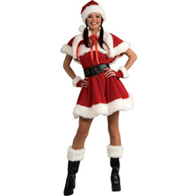 Cute Christmas dress costumes Miss Santa Claus Costume Sweet Santa Dress(China)