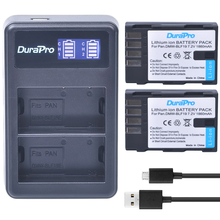 2pc DMW-BLF19 DMW BLF19 Rechargeable Li-ion Battery +LCD Dual USB Charger Panasonic Lumix DMC-GH3 DMC GH3 GH4 DMC-GH4 Camera - Durapro Official Store store