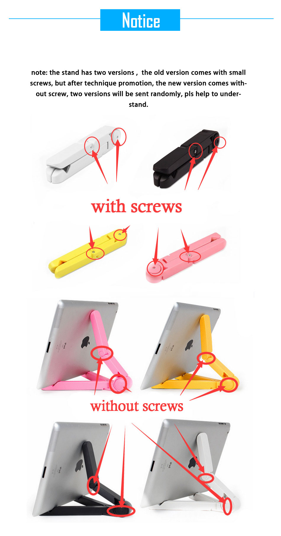 Mrs win Universal Foldable Phone Tablet Holder Desk Stand Adjustable Tripod Stability Support for iPhone iPad Pad Tablet Huawei 6