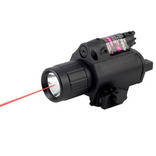 "200 Lumen Tactical LED Laser Flashlight Combo Red Sight Wrench Tail Switch 5/8"" 20mm Weaver rail Camping Hunting Equipment(China)"