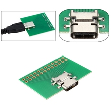 USB 3.1 Type C Female Test Socket Connector PC SMT Experiment Board PCB Board  PCB Prototype Manufacturing Adapter Plate