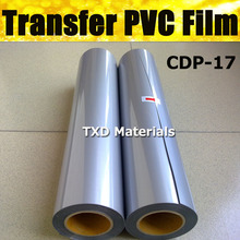 High quality Flex SILVER Pvc transfer film, Transfer PVC vinyl with size:0.5x25m per roll by free shipping CDP-17 Silver Color(China)