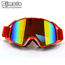 BJMOTO Cool motorcycle goggles glasses with detachable lenses UV protection gafas For fox motocross off road racing