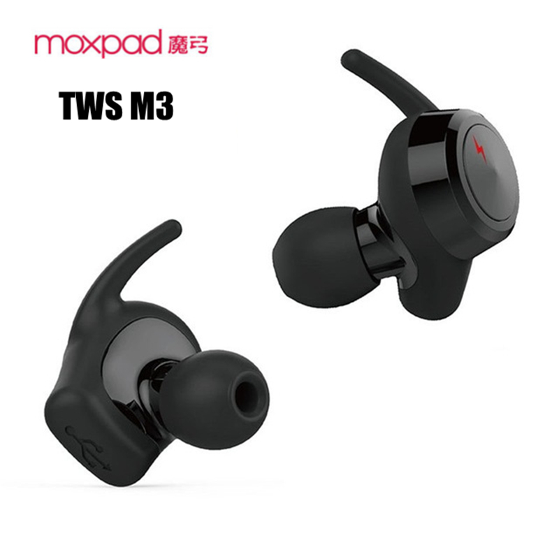 Genuine Moxpad M3 TWS Wireless Earphones Separating Earbud Bluetooth 4.1 Earphone Stereo Music with Retail Box PK Air pods<br>