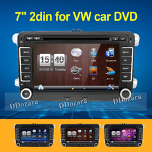 2 din Car Radio DVD GPS Navigation For Volkswagen VW Caddy Golf Jetta Polo Sedan Touran Passat EOS DVD Automtivo(China)