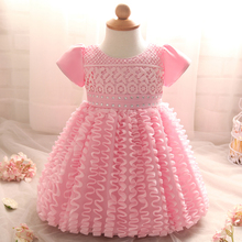 Infant Princess Baptism Baby Girl Dress wedding For Girl Clothes 1 Year Birthday tutu Dress Newborn Dresses Little kids clothing
