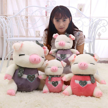 Cartoon angel wings pig plush toy Mcdull pig shape doll high quality birthday gift toy 30cm/40cm