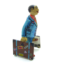 New Arrivals Kids Wind Up Spain Student with Luggage Clockwork Metal Tin Toys Collectible Classic Wind Up Toys Birthday Gift Boy(China)