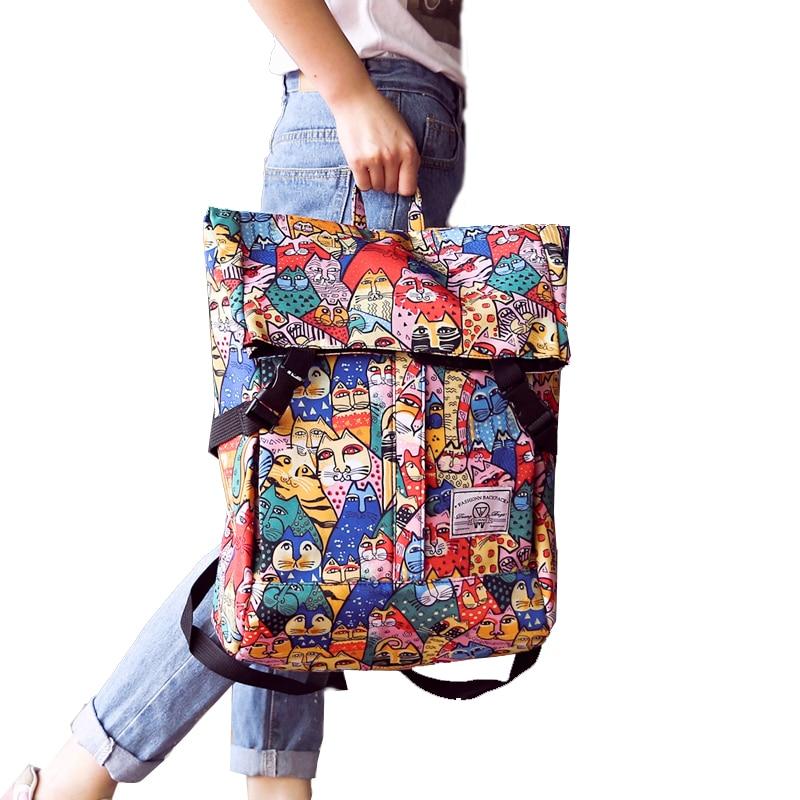 2017 Canvas Backpacks For Teenage Girls Fashion Women Cats School Bags Backpacks Schoolbags Laptop Shoulder Bags Mochila 509<br><br>Aliexpress