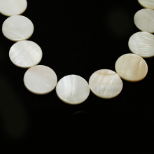 30mm White Round Flat shape Natural Freshwater Shell Beads MOP Beads Fit Bracelets Necklaces Jewelry DIY Craft For Female Gift(China)