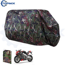 High Quality Universal XL XXL XXXL Motorcycle Motorbike Outdoor Cover Camouflage Color Waterproof Dustproof UV resistant Cover(China)