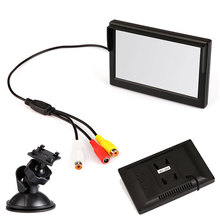 "5"" Digital Color TFT LCD Car Reverse Monitor for Rearview Camera DVD VCD VCR DVR Car 16:9 DC 12V Universal Car Monitor"