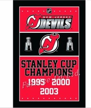 3ft x 5ft New Jersey Devils Stanley Cup Champions Flag Polyester NHL Banner Flying Custom flag
