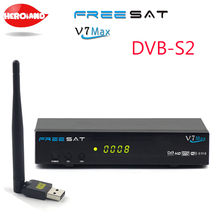 1080p Full HD Freesat V7 Max DVB-S2 Satellite TV Receiver PowerVu Biss Key Set Top Box Support Cccam Newcam YouTube Youporn