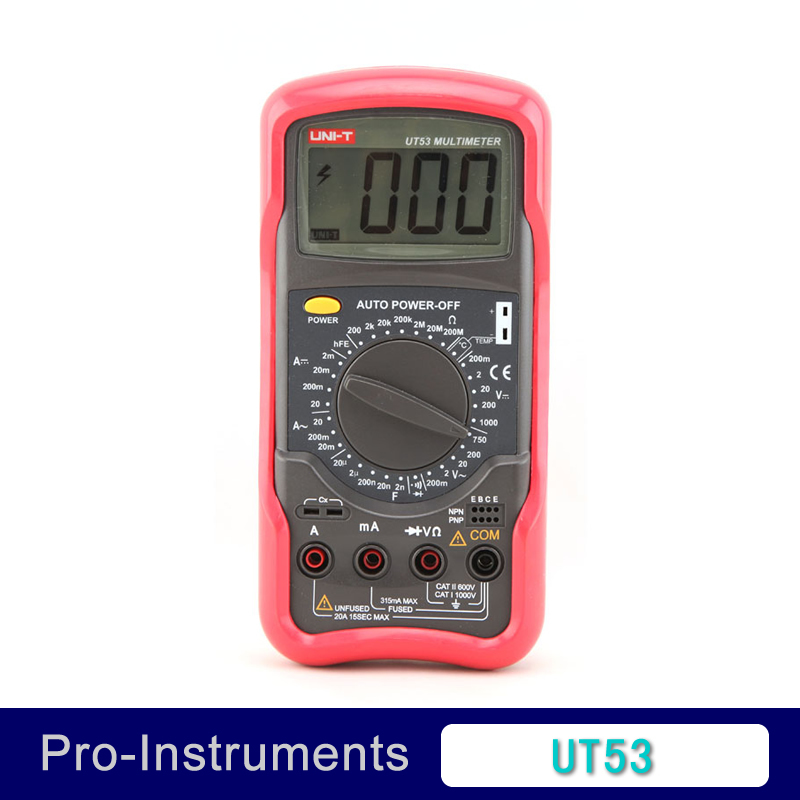 uni-t digital volt amp ohm capacitance multimeter capacitance multi meter UT53<br>