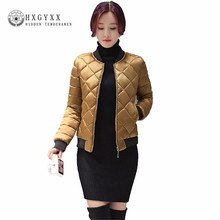 2017 New Women Winter Jacket Fashion Short Paragraph Parkas Hot Sale Long Sleeve Women's Clothing Young girl Winter Coat AA493