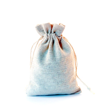 10pcs/lot Small Cotton Bags 10x14cm Drawstring Pouches natural Linen cotton bag favor  jewelry packaging bag pouch