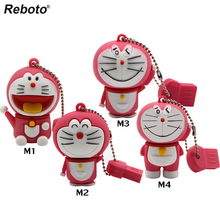 Memory stick cute cartoon doraemon usb flash drive 32gb 16gb pen drive 8gb 4gb usb pendrive 64gb thumb drive