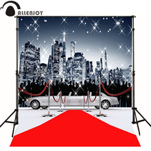 Allenjoy photographic background Red Carpet Limousine bustling city model photo backdrops for sale professional fabric photocall