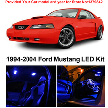 Free Shipping 5Pcs/Lot car-styling Premium Package Kit LED Interior Lights For Ford Mustang 1994-2004