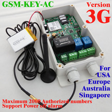 3G Version Good designed 3G and GSM gate opener gsm relay switch two relay output two alarm input for gate access system