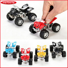 4pcs/lot Children Mini Motorcycle Toys Pull Back Four-Wheeler Beach Small Toy Car Vehicle Toys For Children(China)