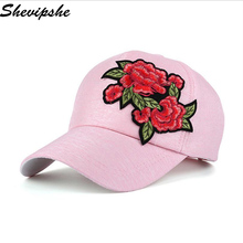 2017 Summer Baseball Cap flowers embroidery Snapback Cap Hat Women Vintage Baseball Hat Casquette Bone Sports Cap Sun Hat Gorras(China)