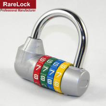 Rarelock 4 Letter Zinc Alloy Combination Padlock Code Password Lock Door Cabinet Drawer Bike Motorcycle Student Locker Locks a