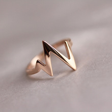 New Accessory Retro Style Flash Of Lighting Kpop Silver Gold Color Rings For Women Men Titanium Steel Ring Anel Masculino Bijoux